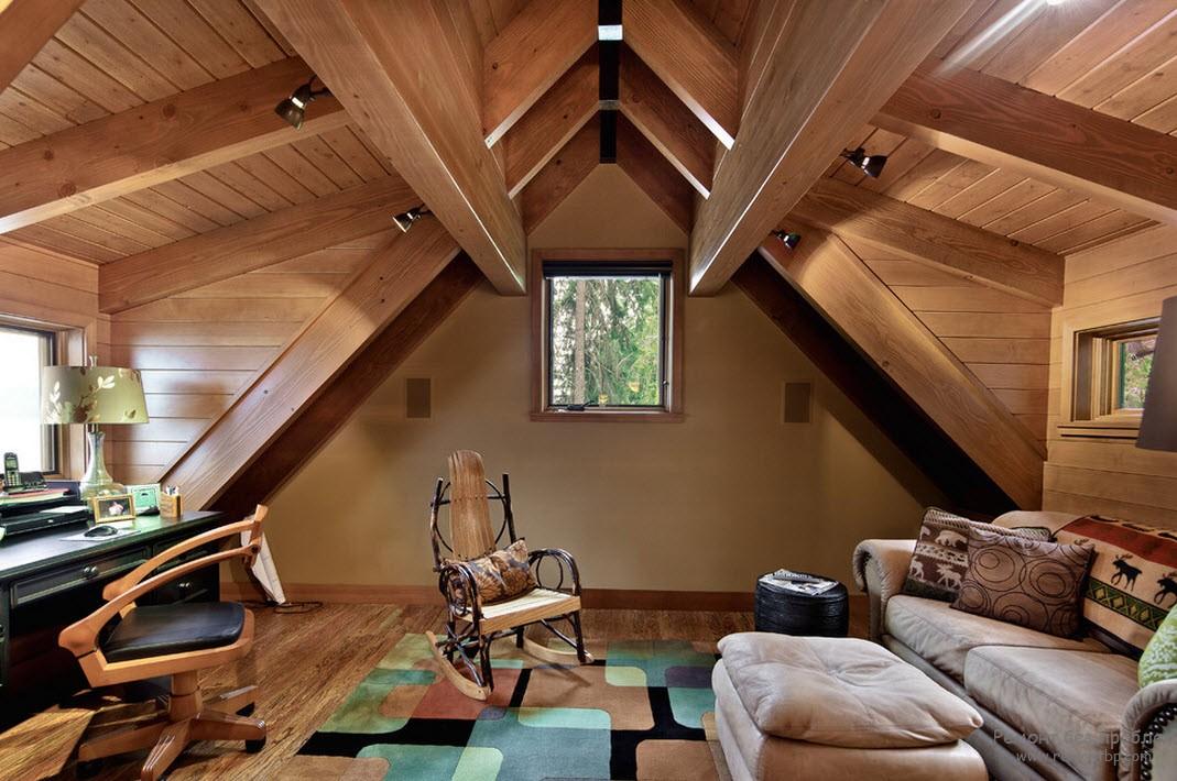 Деревянные дома фото интерьер