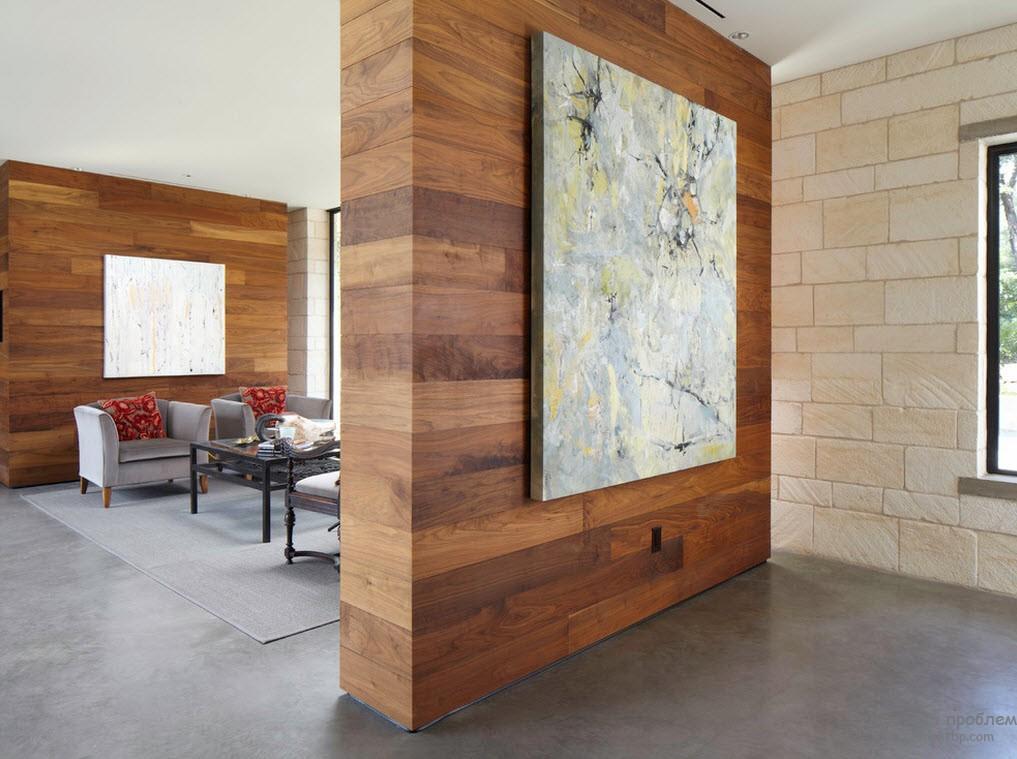 Деревянные обои в интерьере жилища