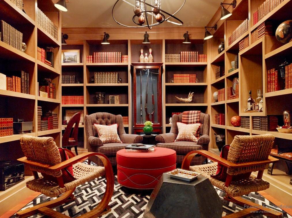 Удобная библиотека с множеством мягких кресел и уютным ковром