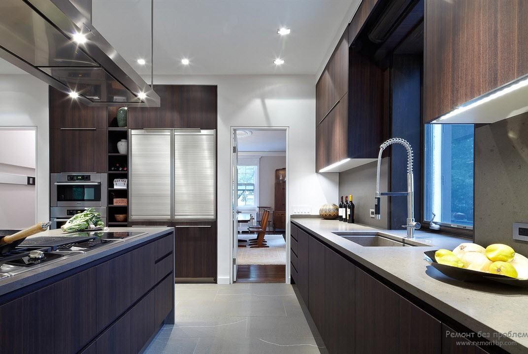 Венге в кухне