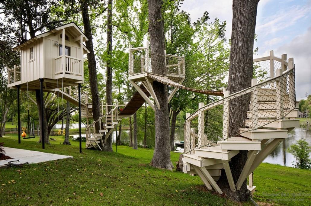 Как сделать дом на дереве своими руками для детей во дворе 64