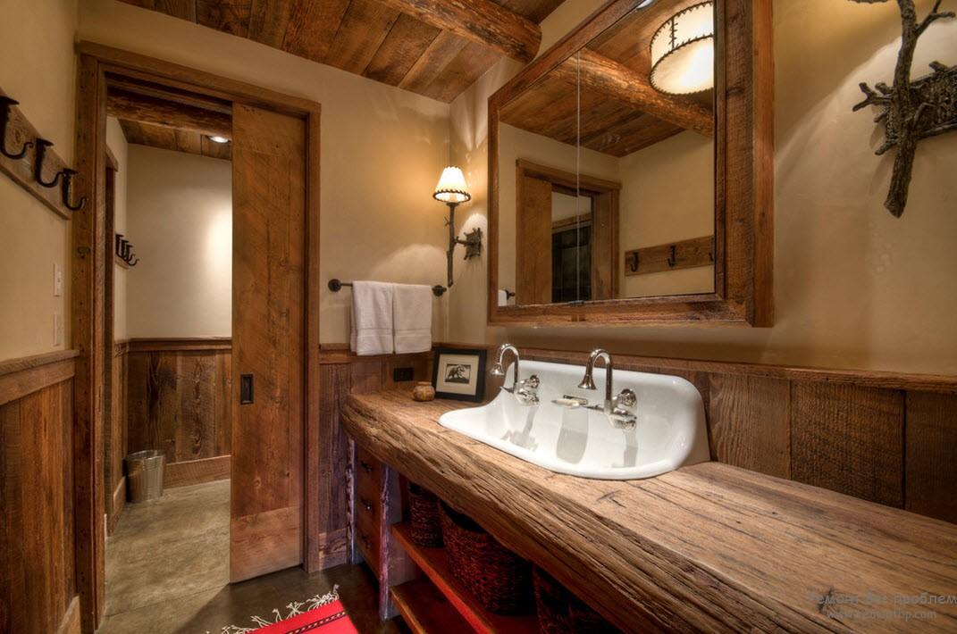 Великолепие ванной комнаты на даче