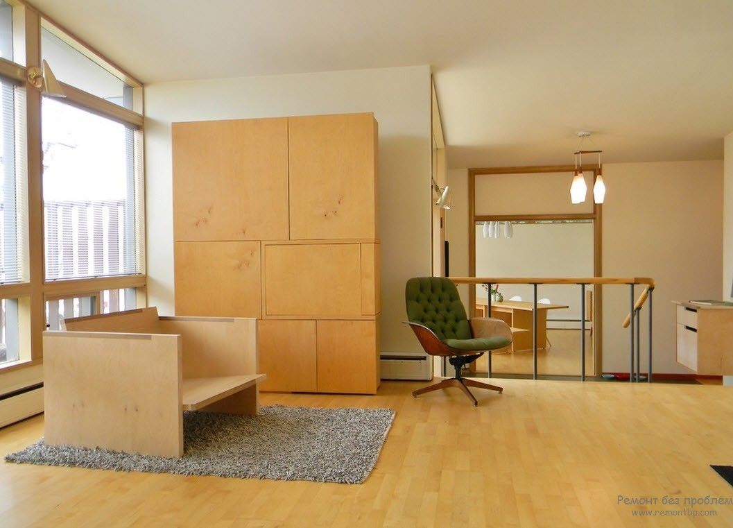Набор мебели строгих геометрических форм