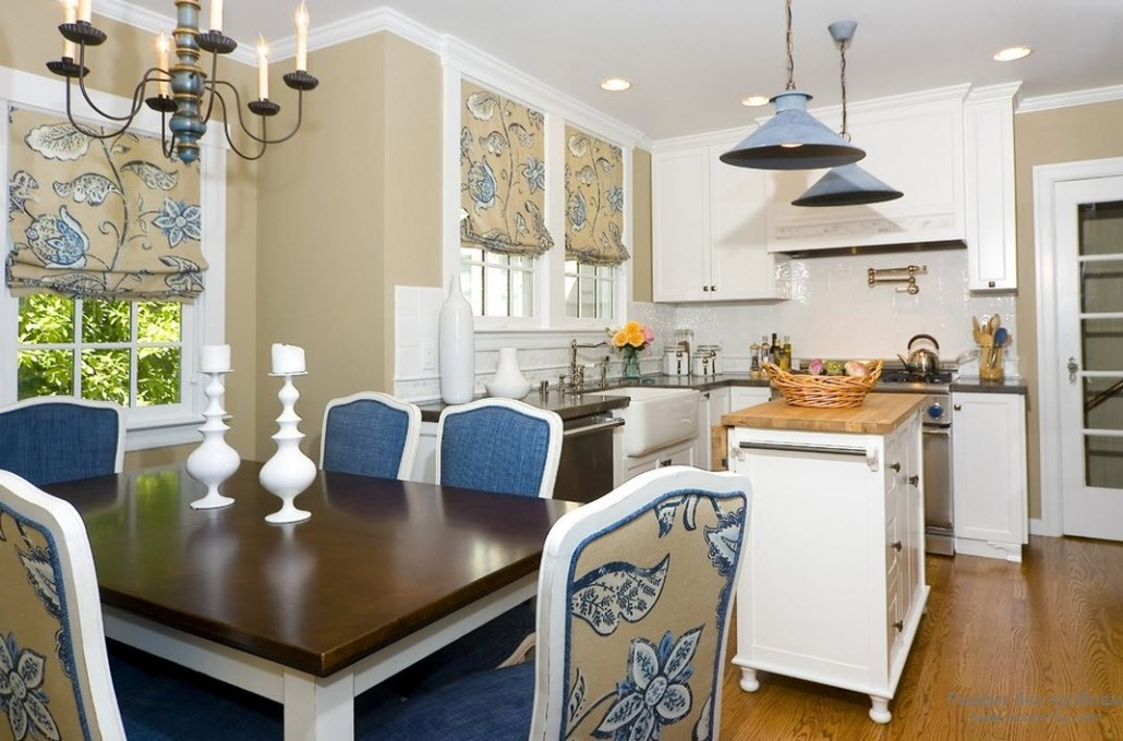 White kitchen and dining
