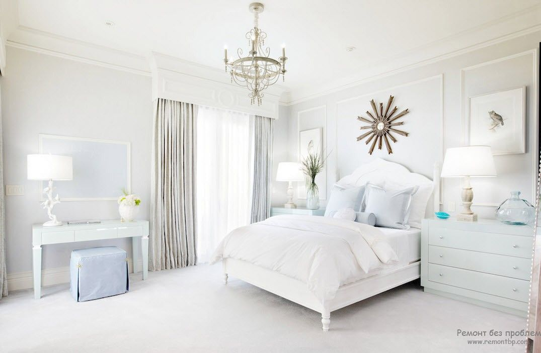 Спальня в светлых тонах: интерьер и дизайн комнаты в белом цвете, Интересные идеи