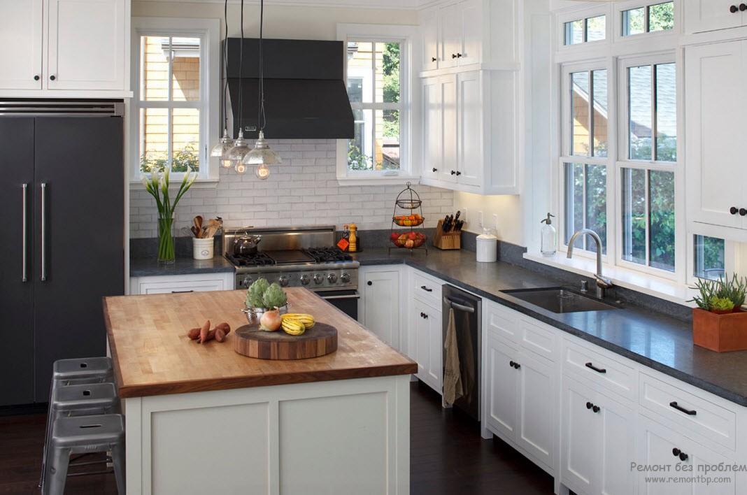Хороший дизайн кухни на даче