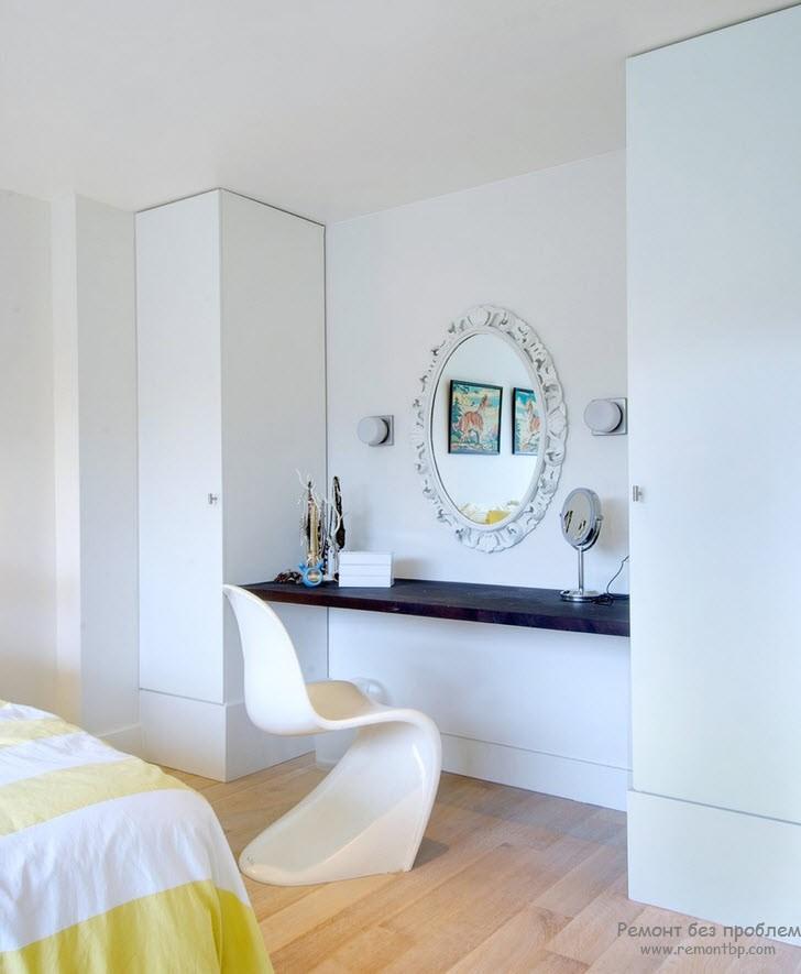 Мини-гардеробная в маленькой спальне