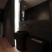 Дизайн темной ванной