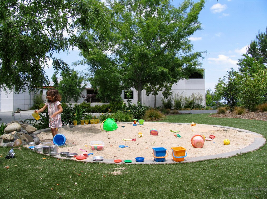 Дизайн детской площадки в частном дворе, Игровая зона для ребенка