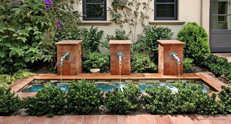 Искусственный водоем, служащий акцент дизайна двора