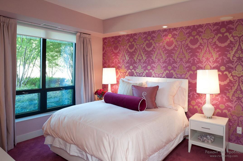 Лиловая спальня