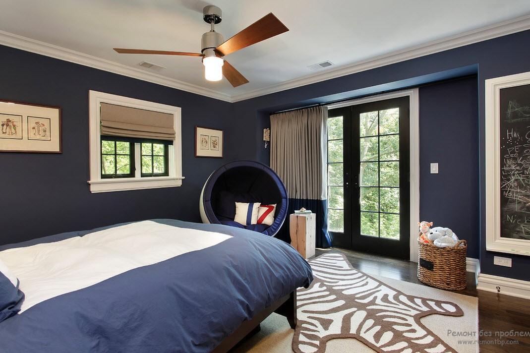 Шторы для синей спальни фото