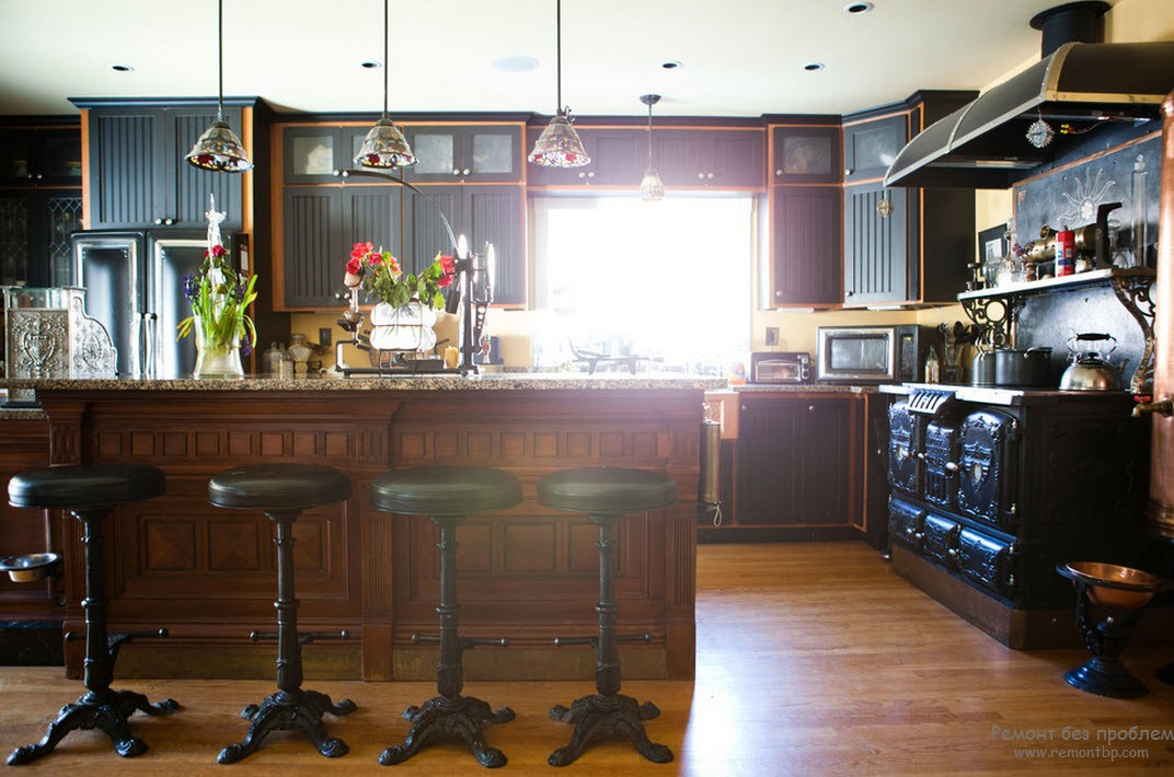 Стимпанк в кухонном интерьере