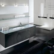 Темные и нежные цвета в ванной