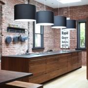 Домашний уют темной кухни