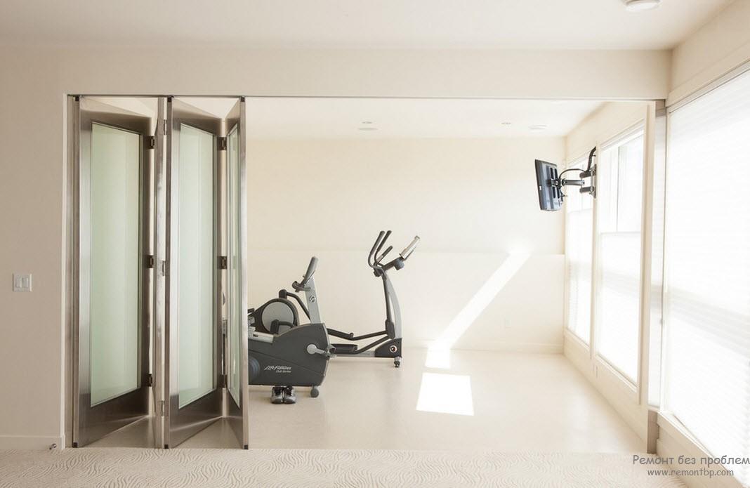 Удобный вариант для фитнес-зала
