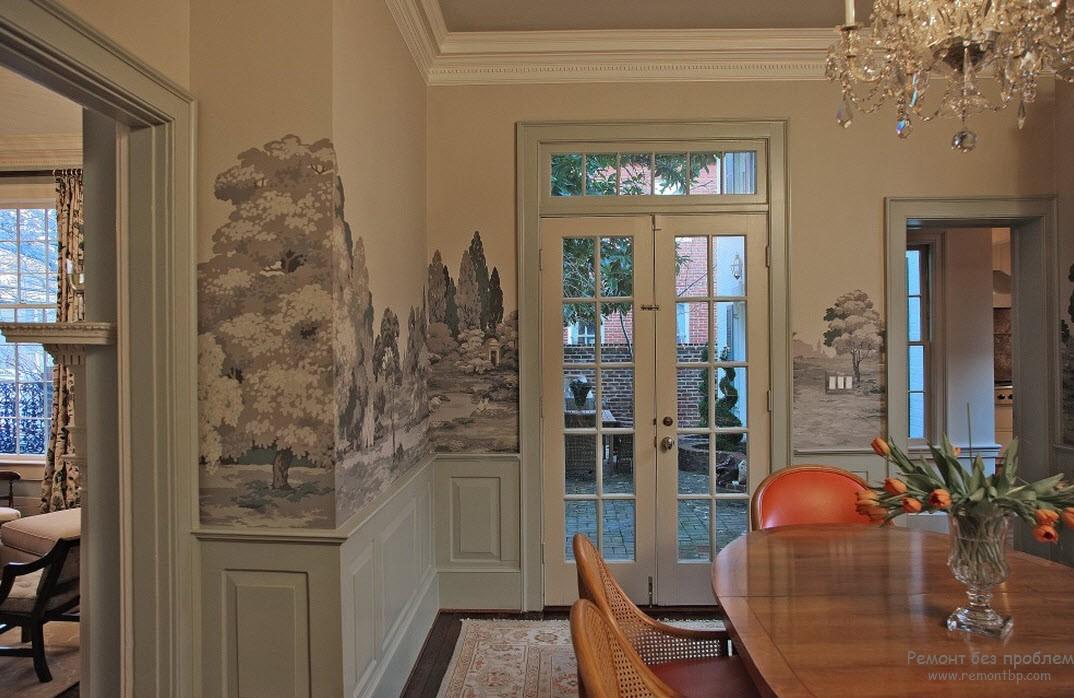 Незабываемая атмосфера интерьера с фреской