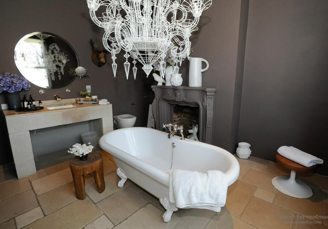 Керамическая плитка в качестве напольного покрытия в ванной комнате