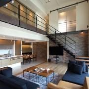 Индустриальный стиль фото гостиной