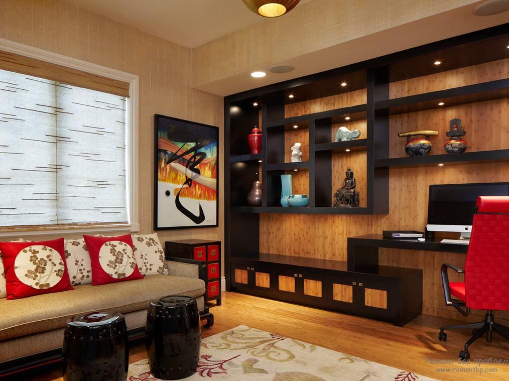 Восточный стиль в домашнем кабинете