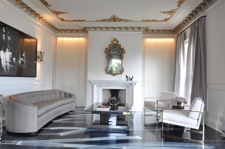 Богатое убранство с позолотой - все это стиль барокко