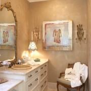 Декор на даче в ванной