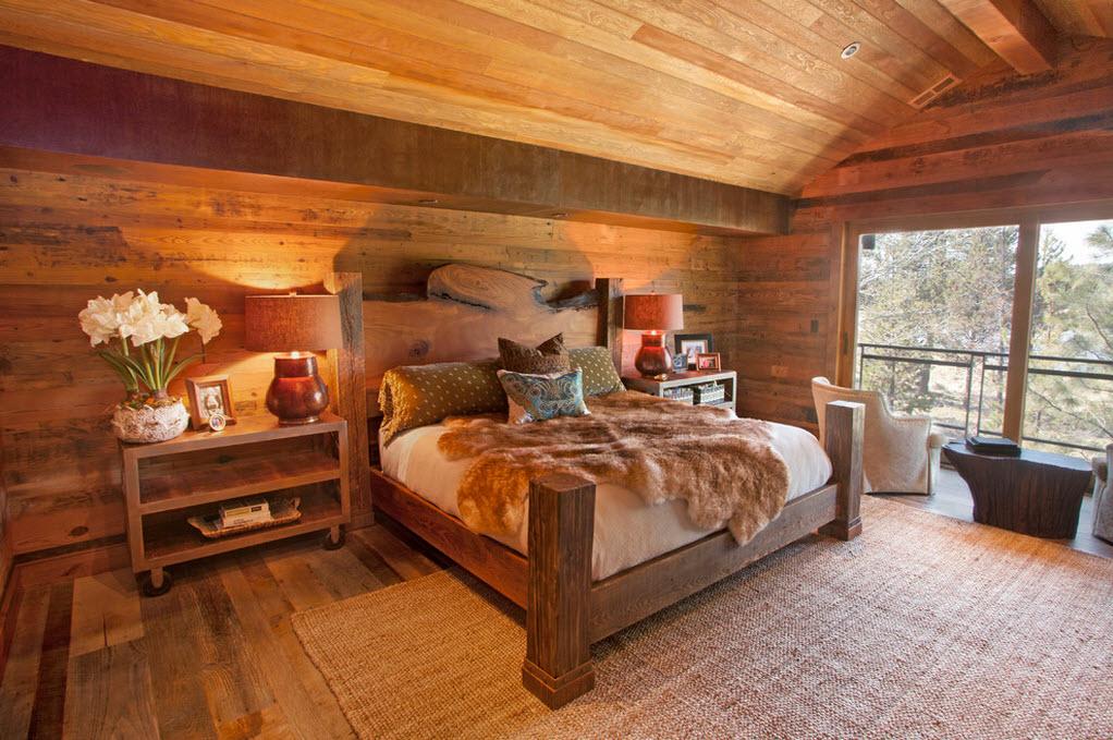 Деревянное ложе дополняет эко-дизайн