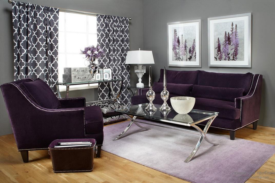 Кресла фиолетовые