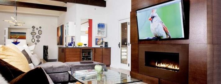 Дизайн разместить телевизор