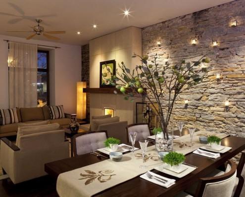 Отделка диким камнем – использование натурального камня для отделки стен