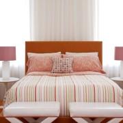 Добавление оранжевого цвета в спальне