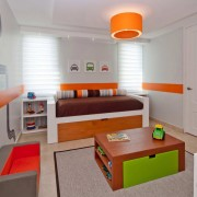 Оранжевый цвет в детской комнате