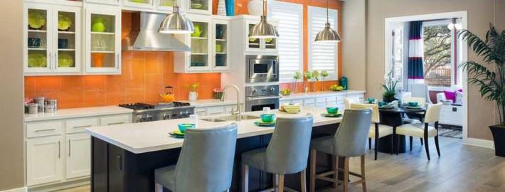 Оранжевая кухня: солнечно и стильно