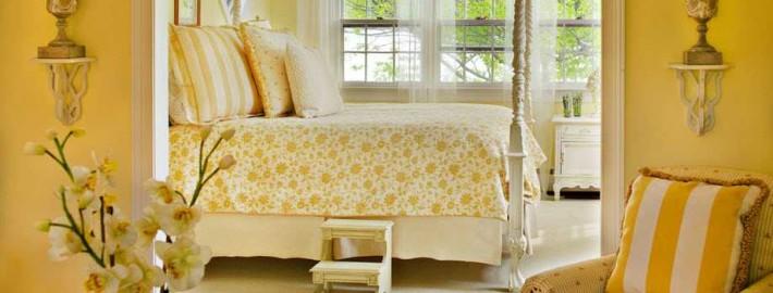 Желтый интерьер и варианты его сочетания с другими цветами