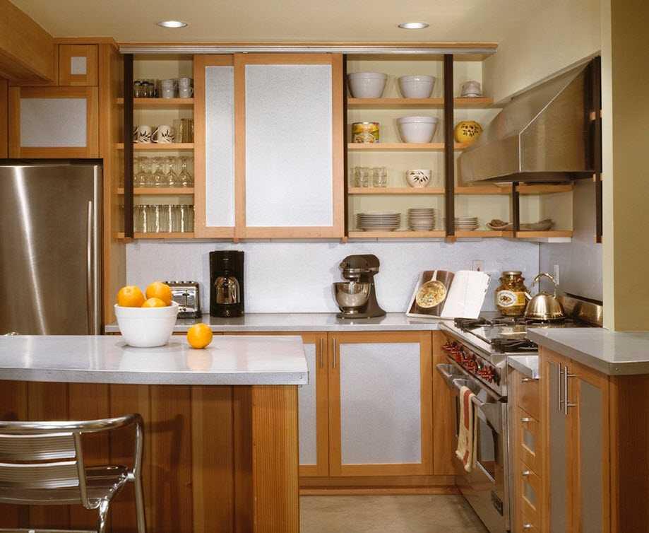 Навесные шкафы для кухни дизайн фото
