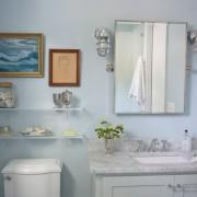 Картина с морской тематикой - аксессуар ванной комнаты