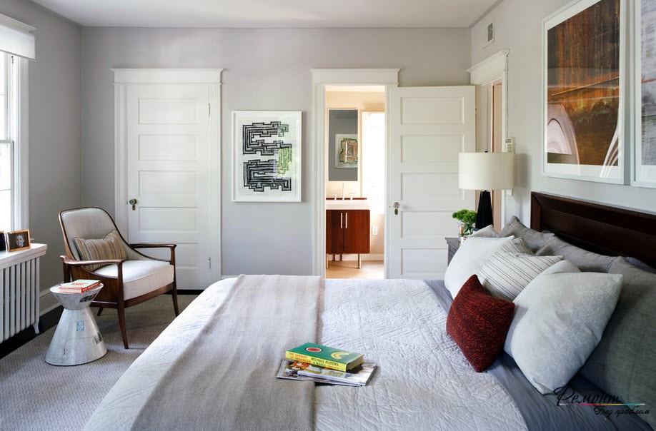 Оформление дверей в спальне
