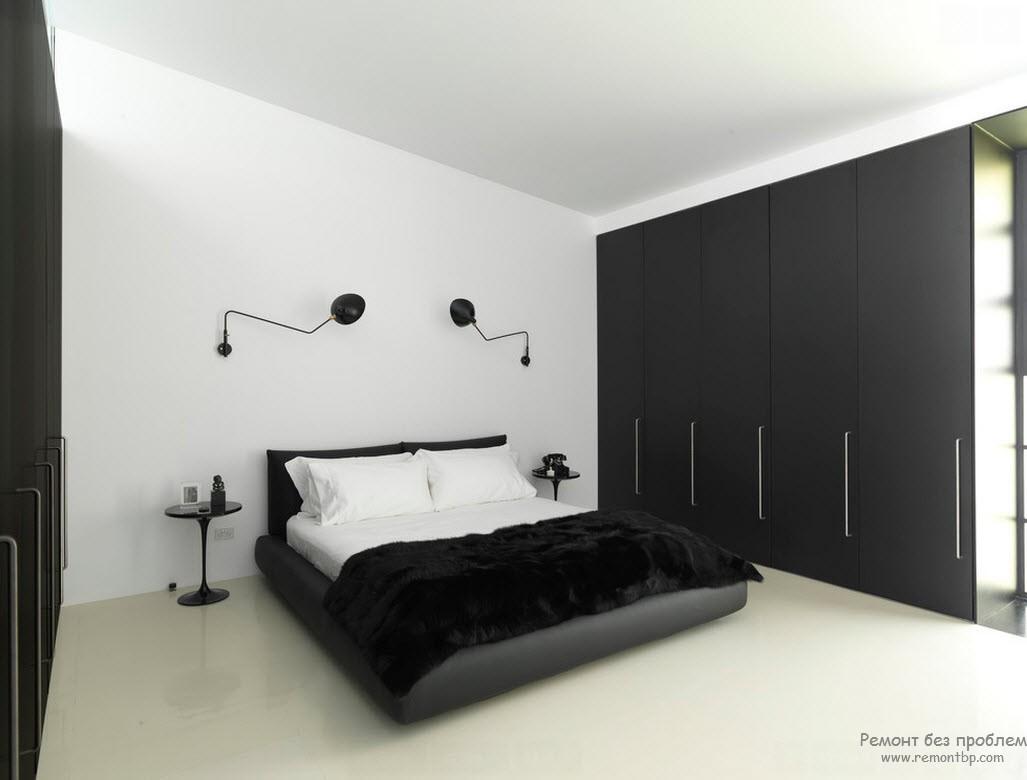 Шкаф купе черно белый