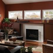 Интерьер коричневой гостиной