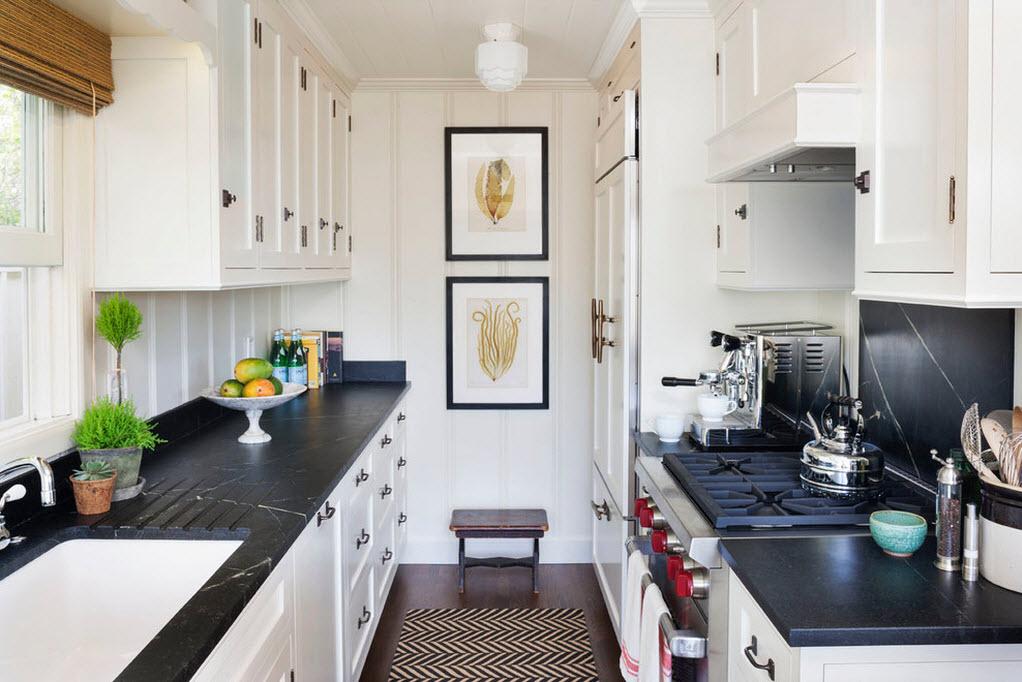 Картины в интерьере мини кухни