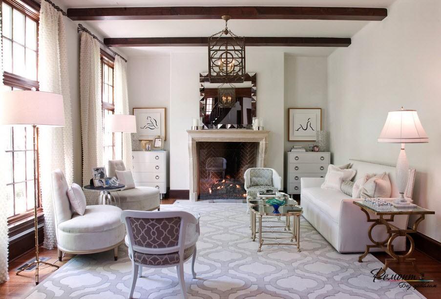 Ковер и обивка мебели - сочетание цвета и рисунка