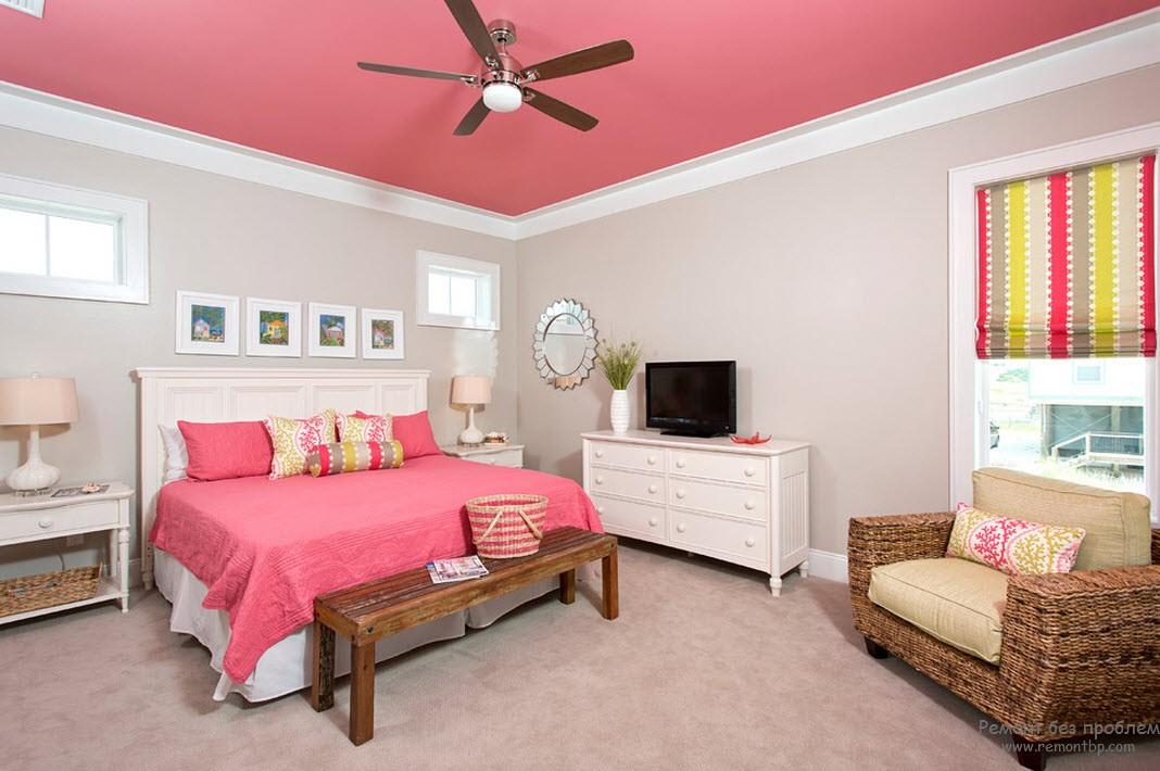 Сочетание белого и розового