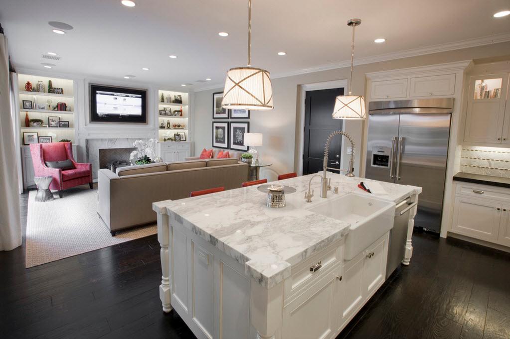 Правильное освещение гостиной и кухни