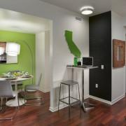 Зеленый цвет на кухне порадует глаз и улучшит аппетит