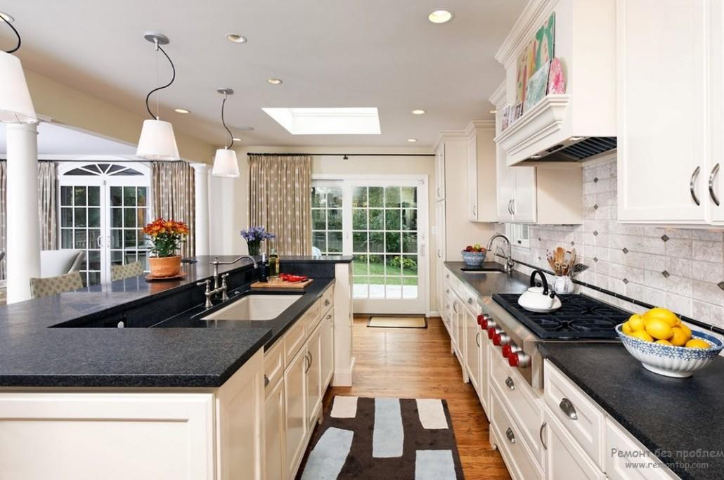 Кухня дизайн коттедж