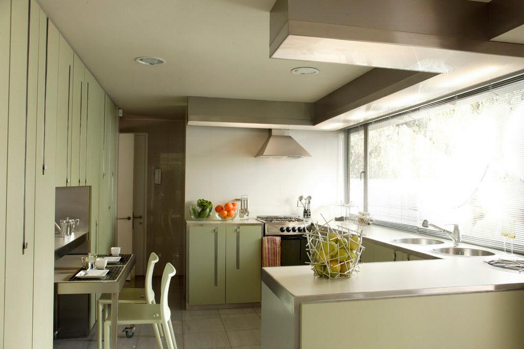 Стиль модерн для небольшой кухни