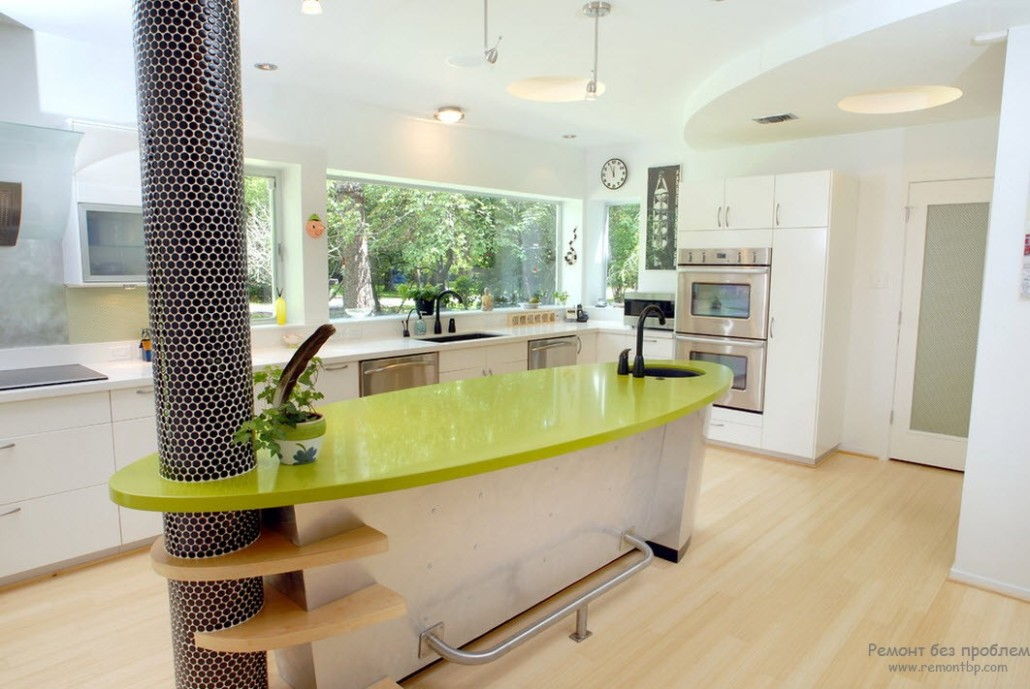Дизайн колонн на кухне