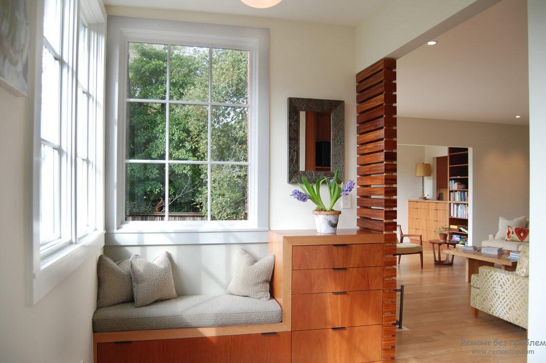 Деревянная мебель и простор