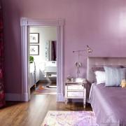 Чисто фиолетовая спальня