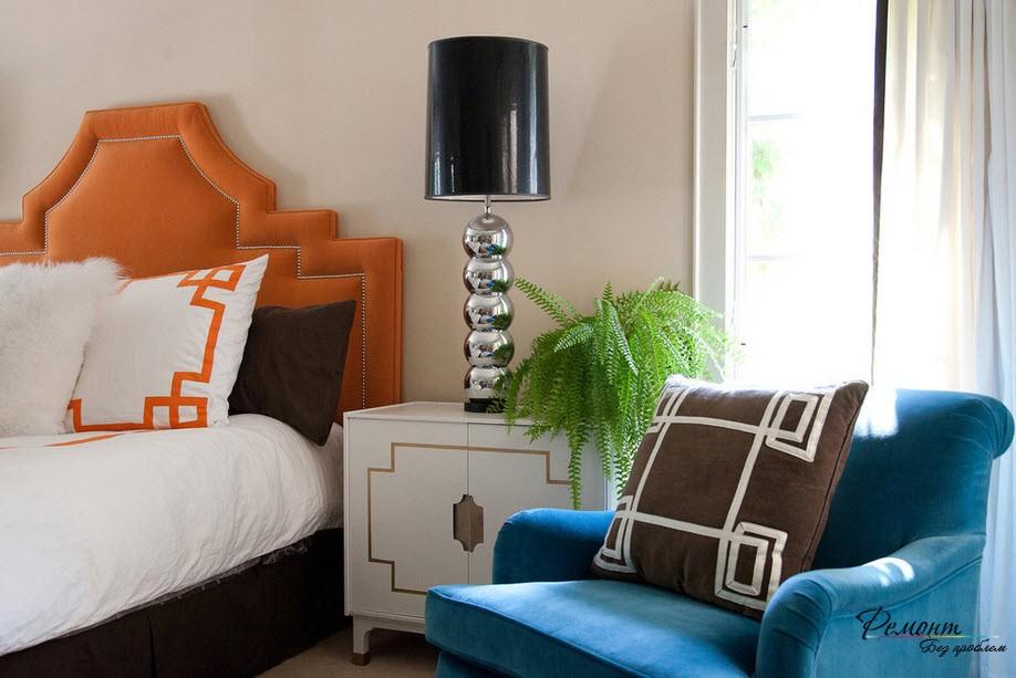 Цветовая гамма светлой скандинавской спальни